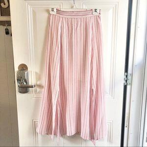 GB pink & white stripe women's skirt Size Small